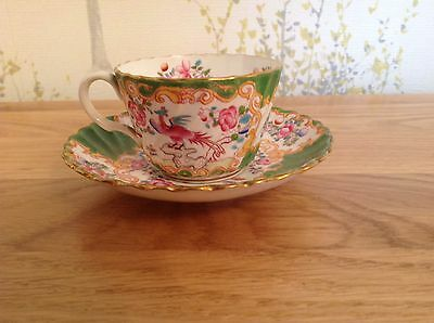 Antique Early 1900s Minton Cockatrice Green 4863 Mini Cup And Saucer 2