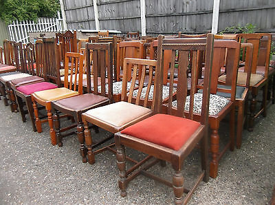 LARGE COLLECTION OF OAK 1920s DINING CHAIRS- IDEAL FOR PUBS, RESTAURANTS ETC 10