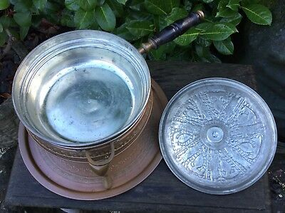 Old Vintage Middle Eastern Persian Islamic Darius Tin Lined Copper Cooking Set 5