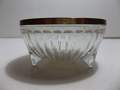 Antique Art Nouveau Trinket Box Glass Metal Enamel Lid Periods & Styles