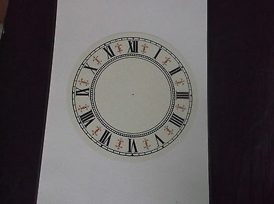 """Paper vienna style Laminated Clock Dial-6 1/4"""" diam white Face 2"""