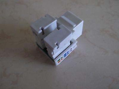 25 Pack Lot Grey CAT5e RJ45 110 Punch Down Keystone Modular Snap-In Jacks