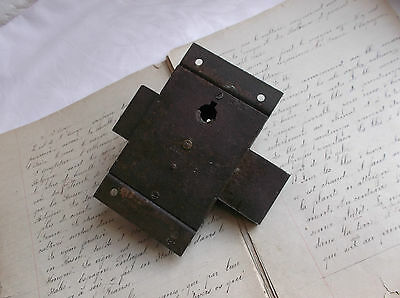 French antique solid iron door latch lock slide bolt authentic charm 3