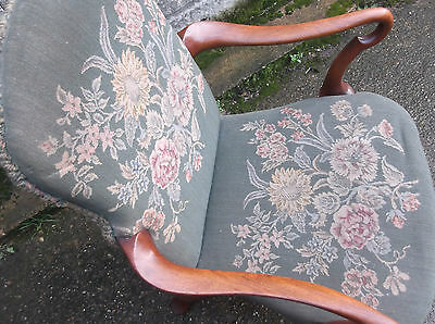 Superb Victorian Walnut Tapestry Armchair Very Clean Delivery Available 4