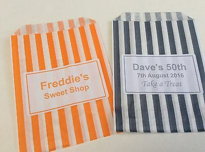 Personalised Candy Striped Polka Dot Sweet Candy Wedding Favour Birthday Bags 11