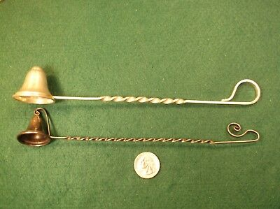 #1 of 2, EXCELLENT VTG ANT RANDAHL STERLING SILVER CANDLE SNUFFER, BARLEY TWIST 11