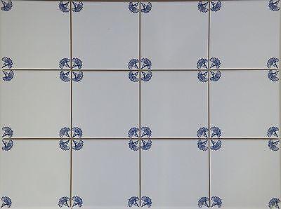 fliesen delfter art dekor blau wei kachel 15x15cm mit. Black Bedroom Furniture Sets. Home Design Ideas