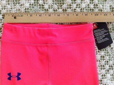 NWT UNDER ARMOUR Girl's Crop Pant Leggings Pink Size 4 Retail $27 4