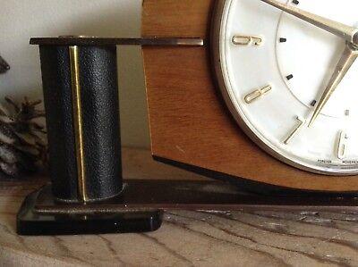 2 Metamec Mantel Clocks Spares Or Repair 1920-1950's Vintage Wood & Onyx 4
