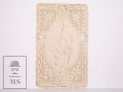 Antique Paper Lace Holy Card - Christ Child / JHS / M - Spain, c. 1910 2