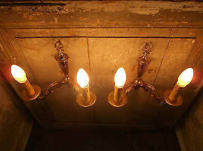 French a pair of patina gold bronze wall light sconces exquisite vintage 8