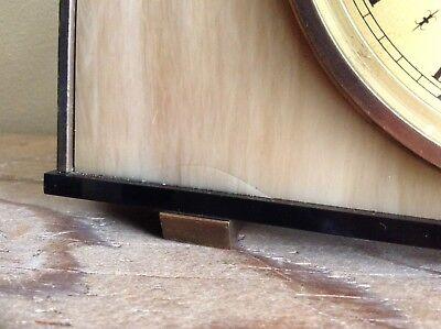 2 Metamec Mantel Clocks Spares Or Repair 1920-1950'S Vintage Wood & Onyx 10