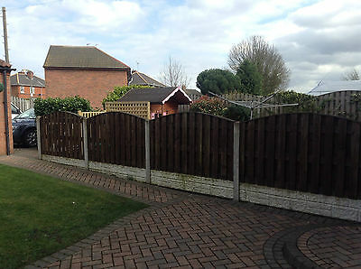 CONCRETE FENCE POST Extender All Garden Fence Panels Fit Solid Steel 29  Colours