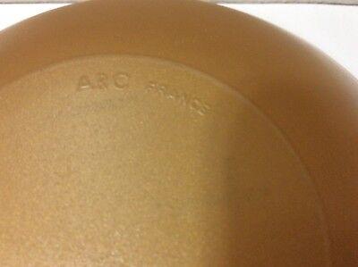 "Arc France Arcopal Set of 2 Gold Glass Soup Cereal Bowls 6.5"" 4"