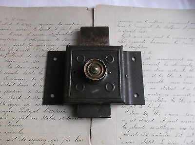 French antique solid iron door latch lock slide bolt authentic charm 4