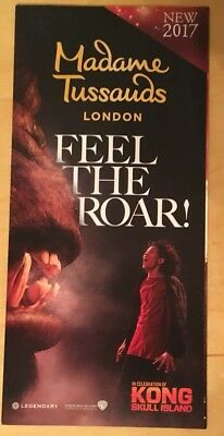 Madame Tussaud's London Fold Out Map & Promotional Flyer 2017 Kong Skull Island 2