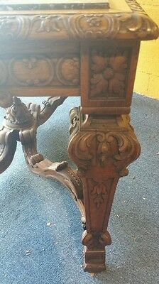 French regency style center table highly carved marble monumental size museum 7