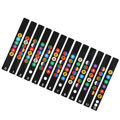 Guitar Fretboard Note Decal Fingerboard Musical Scale Map Sticker for Practice 5