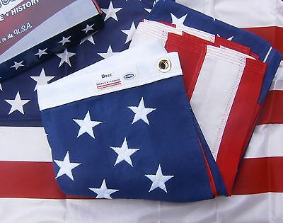 Valley Forge US American Flag 4'x6' BEST Cotton -Commercial/Heirloom Grade USA 4