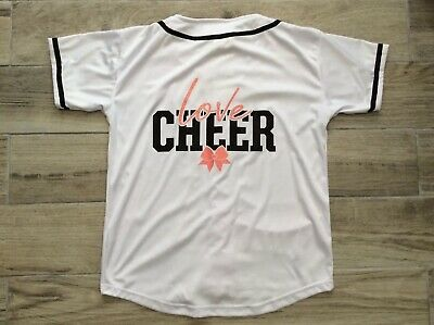 Girls Cheerleading Top Size Youth Large Excellent Condition 2
