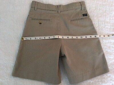 "SSU Sunshine School Uniform Khaki Shorts Sz 12 Adj 26"" Waist ~SHIPS FREE"