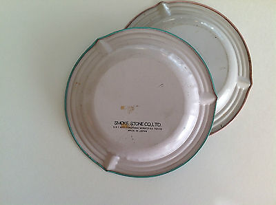 Vintage Antiques American Ashtrays Set of 2 / Made In Japan 4