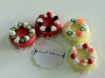 10 Pcs.Dollhouse Miniature Cake 1 inch diameter Free Ship! select from 25 design