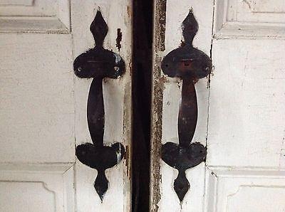 Rare Pair Of 18th Century Federal Exterior Doors Antique Door Latches Hardware 2