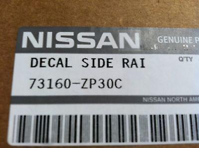 "OEM NEW 2010-2013 Nissan Xterra SILVER /""XTERRA/"" Roof Rack Decal"