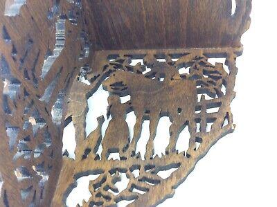 Original Greg Mason 1998 Jigsaw Carved Decorative Shelf Stand Country Scene 7
