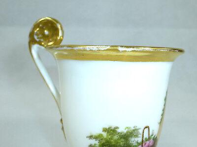 Biedermeier Tasse mit Untertasse um 1850 11