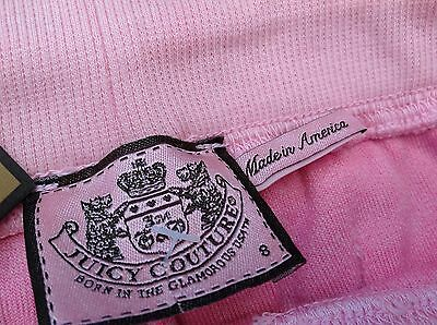 NWT Juicy Couture New Gen.Pink Velour Tracksuit Pants Scotty Dog Logo Girl Age 8 4