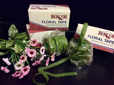 """Green Florist Tape"" 12 Sticky Stretchy. Corsage-Bouquets-Stems, Flowers, Crafts 3"