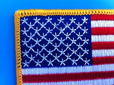 """AMERICAN FLAG & MEXICAN FLAG EMBROIDERED PATCH IRON-ON SEW-ON MEXICO  (3½ x 2¼"""") 8"""