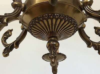 Antique Style Brass Chandelier 6
