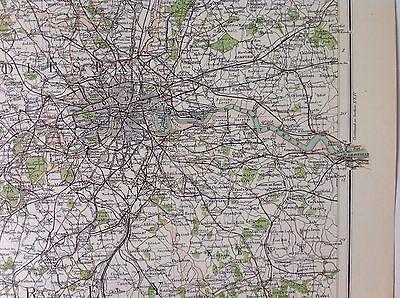 Middlesex Antique Map c1898 Bartholomew Royal Atlas Of England & Wales London 2