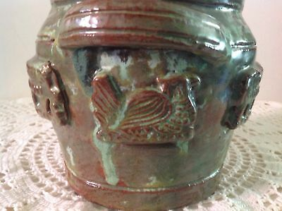Arie Snel Signed Hand Made Pottery Set - 4 Jugs & Lidded Canister With Handles. 7