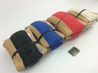 Panaracer hp406 Old school BMX Tyre Freestyle skinwall Red Black Blue White Pair