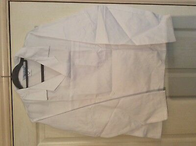 """Alexandra white Lab / catering ect Thick smock top W12 size 45.5"""" chest 2"""