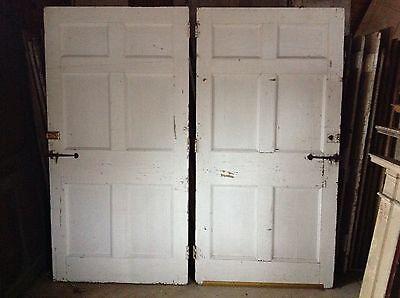 Rare Pair Of 18th Century Federal Exterior Doors Antique Door Latches Hardware 4