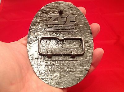 "Vintage Men's Belt Buckle Longhorn Steer ""S"" Western Pewter Cowboy Zee Series 6"