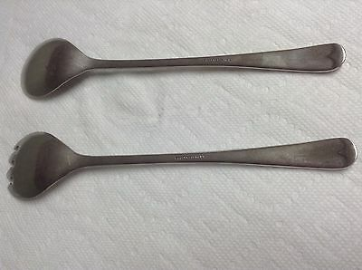 Fb Rogers Italy Silver Plated Serving Spoon & Fork 4