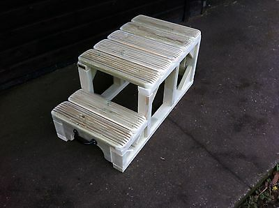 """Mounting Block Steps 24/"""" High LARGER top step Movable Heavy Duty Horse Jacuzzi"""