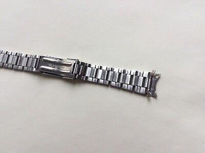 Cinturino in acciaio satinato tipo Oyster ansa curva 20mm steel watch band strap 3