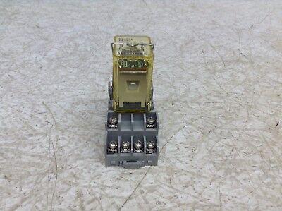 IDEC RY4S-UL DC24V 24 VDC Pilot Cube Relay RY4SUL w// Base