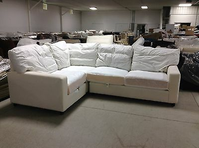 POTTERY BARN SQUARE arm Slipcovered Comfort sectional sofa Loveseat ...