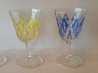 Vintage Stemware Cordial Glass Diamond coloured EACH SOLD SEPARATELY 3