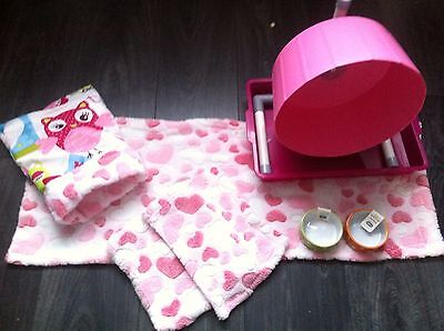 Hedgehog Starter Set,wheel,tray,bowls,bed,blankets And Liners 12