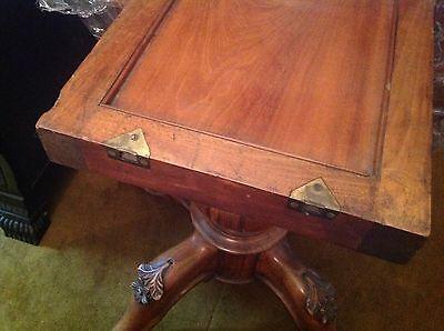 victorian carved mahogany tilt top oval breakfast table 5