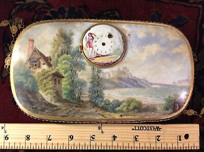 Antique French Gilt Bronze Clock with Sevres Porcelain Panel with key... 8